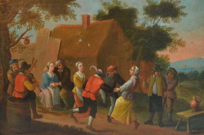 Ecole hollandaise du XIXe dans le goût du...