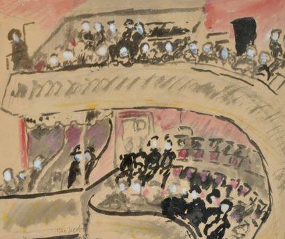 Max Cyprien JACOB (1876-1944) Au théâtre....