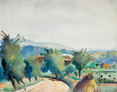 Charles PICART LEDOUX (1881-1959). Paysage...