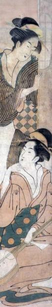 Ecole Utagawa: Haishira-e, deux jeunes femmes,...