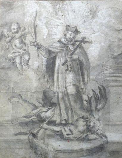 Ecole Italienne vers 1700 Allégorie religieuse....
