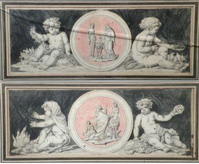 Antoine-Denis CHAUDET (1763-1810) (Attribué...