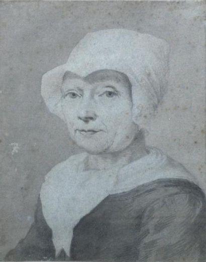 Ecole du nord du XVIIIe Portrait de femme...