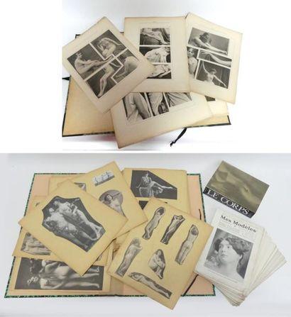 DOCUMENTATION - NUS. 117 planches de collages...