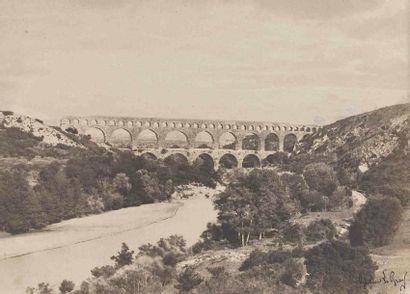 Gustave LE GRAY (1820-1884). Pont du Gard....