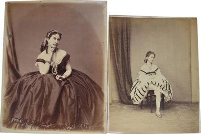 Ulrich GROB. Portrait de femmes aux belles...
