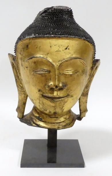 BIRMANIE - XIXe siècle TETE de Bouddha en...