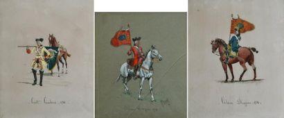 GIRARD, XXe. Cavaliers militaires du XVIIIe...
