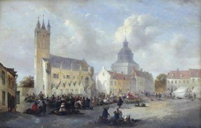 Ecole française milieu XIXe (Charles MOZIN...