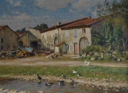 Alfred RENAUDIN (1866-1944) Cour de ferme...