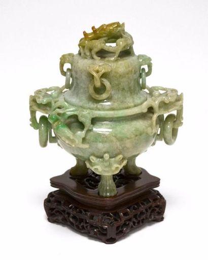 CHINE - Début XXe siècle Brûle-parfum tripode...