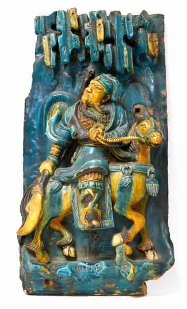 CHINE - Epoque MING (1368 - 1644) Brique...