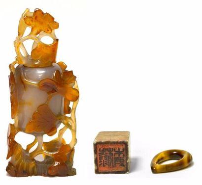 CHINE - Début XXe siècle Vase couvert en...