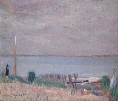 Willem VAN HASSELT (1882-1963) Arcachon,...