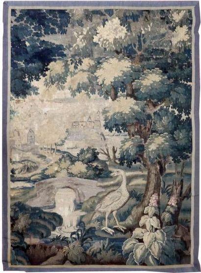 Fragment de VERDURE ou PORTIERE d'Aubusson...