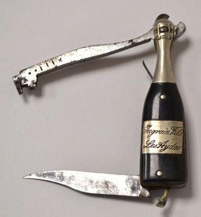 COUPE-MUSELET publicitaire formant couteau,...