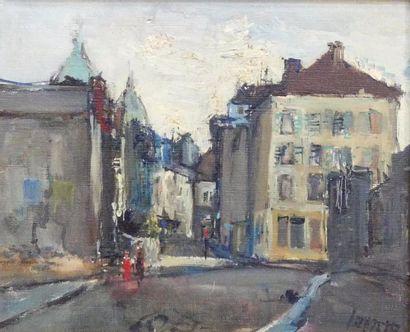 Albert LAUZERO (1909 -2006) Ruelle à Montmartre....