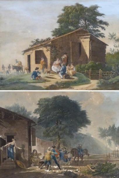 Ecole française fin XVIIIe. Lecture de la...
