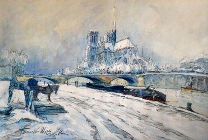 FRANK-WILL (1900-1951) Notre-Dame vue des...