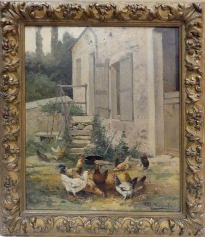 Charles Laurent MARÉCHAL (1801-1887) Volailles...