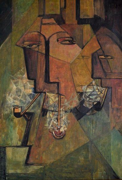 Joseph LACASSE (1894-1975) Les fumeurs de...