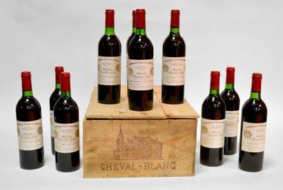 10 Blles Château Cheval Blanc 1980, Saint-Emilion...