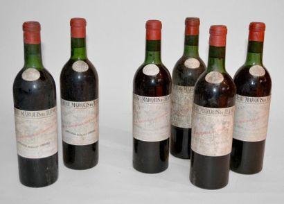 6 Blles Château Marquis de Terme 1965(4)...