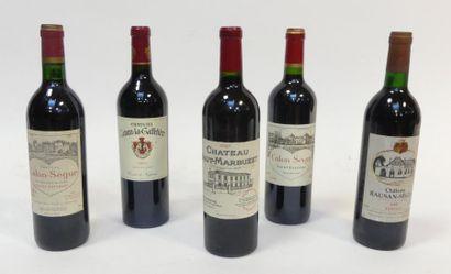 Lot de 5 blles comprenant : 1 Château Haut-Marbuzet...