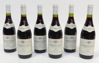 6 Blles Mercurey 1er Cru, Leconte 1997