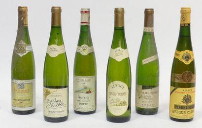 6 Blles de vins d'Alsace divers.