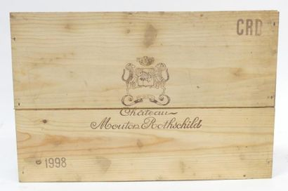 6 Blles Château Mouton Rothschild 1998, Pauillac....