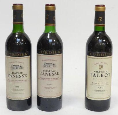 Lot de 3 blles comprenant : 1 Château Talbot...