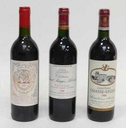 Lot de 3 blles comprenant : 1 Château Chasse-Spleen...