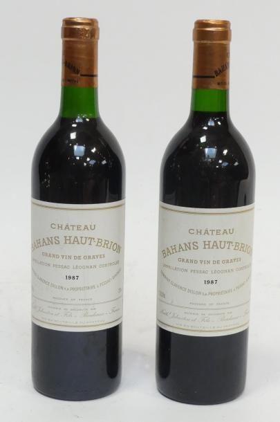 2 Blles Bahans Haut-Brion 1987, Graves.