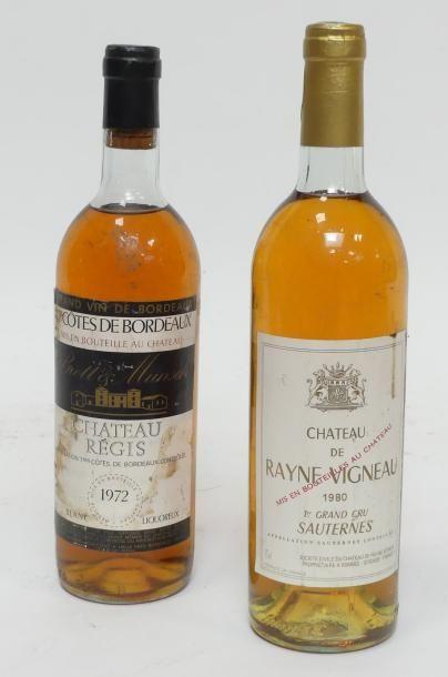 Lot de 2 Blles comprenant : 1 Château Rayne...