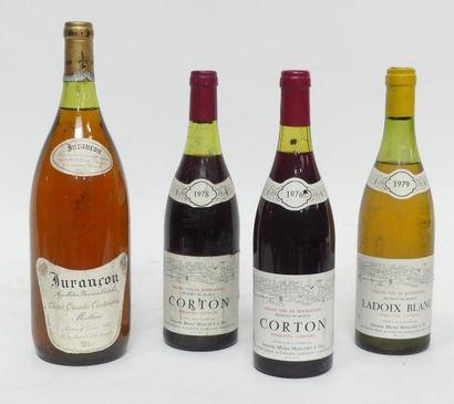 Lot comprenant : 2 Blle de Corton 1976 et...
