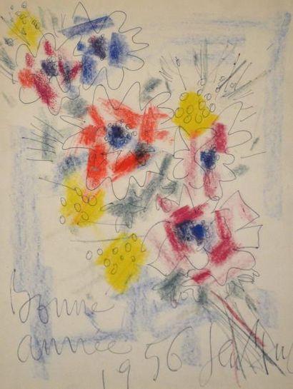GEN PAUL (1895-1975) Bouquet de fleurs pour...