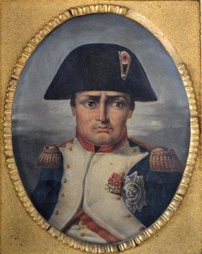 Ecole française XIXe. Napoléon Ier en buste....