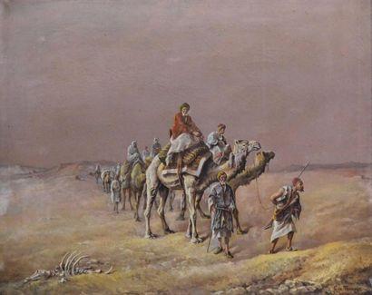 Gaspard DE TOURSKY (?-1925) Caravane dans...