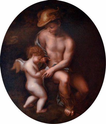 LE CORREGE (c.1489-1534) (d'après). Mercure...