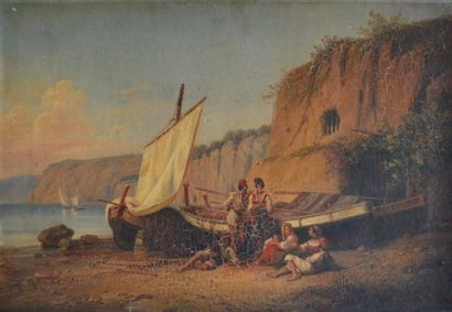 Alphee DE REGNY (1799-1881) Famille de pêcheurs...
