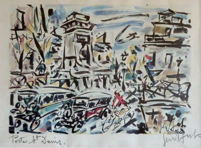 GEN PAUL (1895-1975) La porte Saint-Denis....
