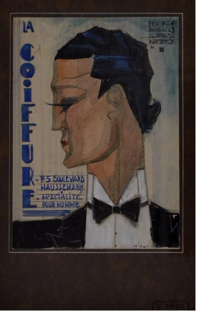 Lucien VIROT (1909-2003). La coiffure. Projet...