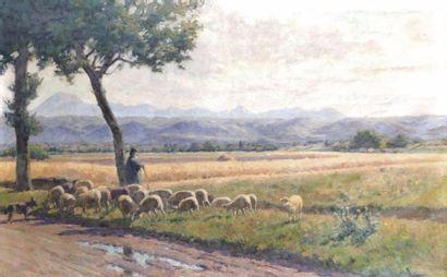 Théophile TAIHLANDIER (1874-1939) Berger...