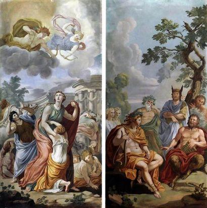 MARIANI, XIXe Scène mythologiques. Paire...