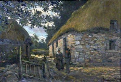 Paul TAILLARDANT (1867-1944) Couple de paysan...