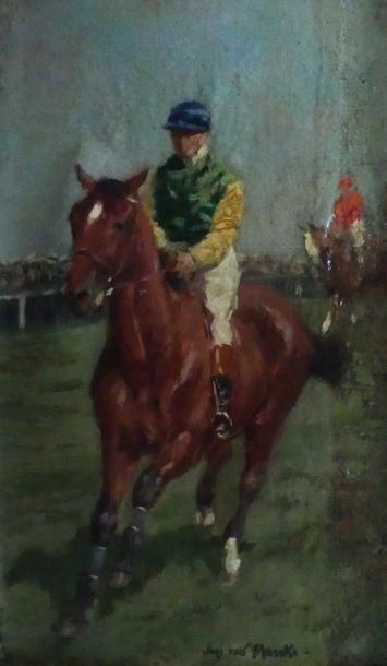 Jean VAN MARCKE DE LUMMEN (1875-1918) Jockey...