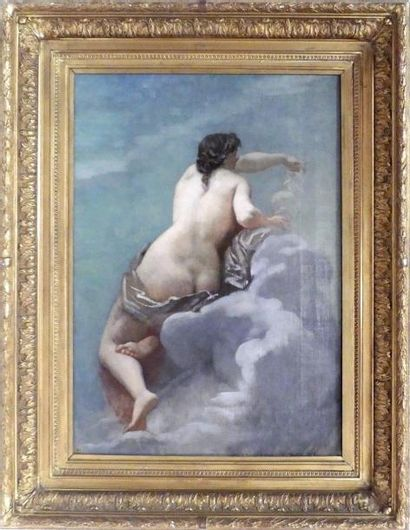 Alexis CABANEL (1823-1889). Baigneuse. Huile...