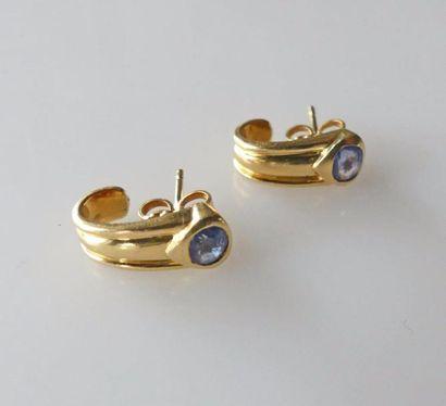 Paire de BOUCLES d'oreilles en or jaune à...