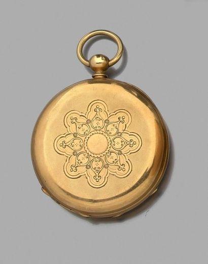 Belle MONTRE de GOUSSET en or jaune guilloché...